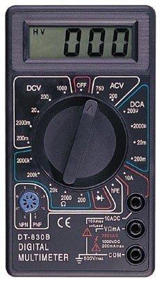 Купить Мультиметр тестер вольтметр амперметр DT-830В , купить вольтметр DT830В, DT 830В