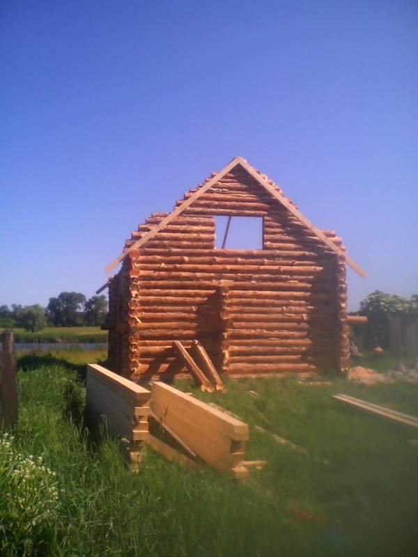 Деревянные дома из дикого сруба под ключ Украина