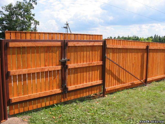 Купить Деревянные заборы на заказ Украина