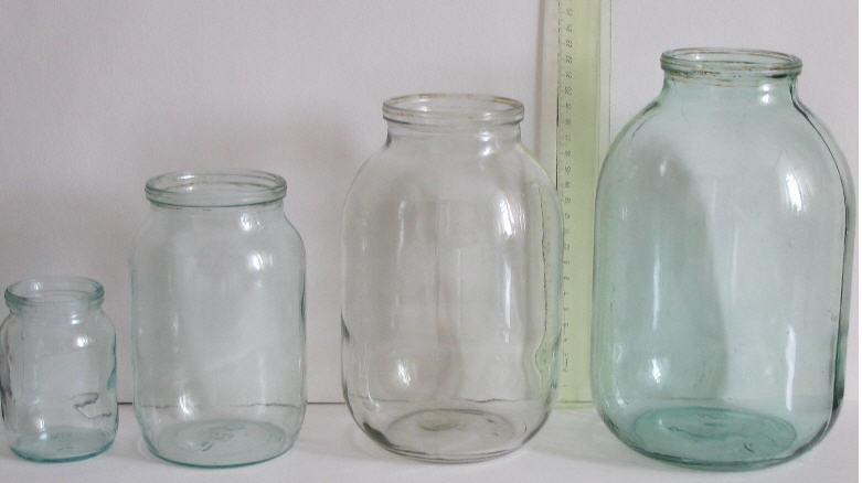 Buy Glass jars 0,5l 1 l, 1,5l 2 l, 3 l,