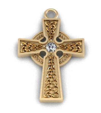 Купити Кельтський хрест із діамантом celt005pd