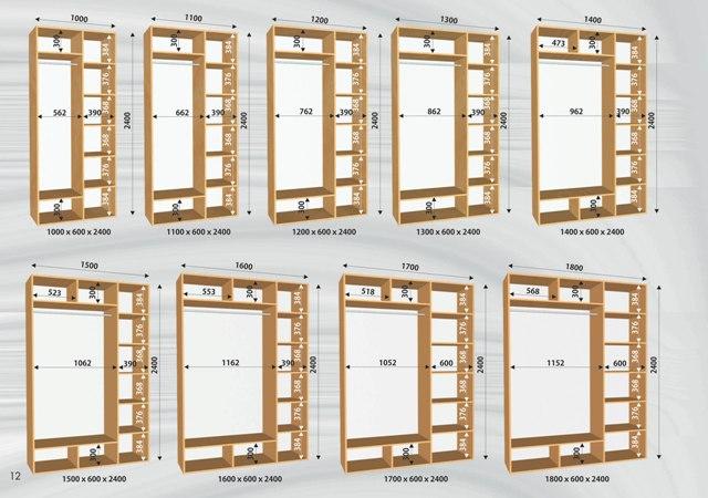 Схема шкафов-купе