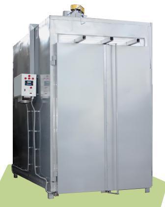Печь камерная полимеризации порошковых покрытий, оборудована системой автоматического регулирования температуры, имеет таймер для установки времени термообработки и звонок для извещения об окончании процесса