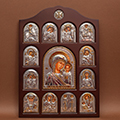 Buy Icon of an arch form In a wooden frame Iconostases a face the registered Iconostasis of the Mother of God Kazan