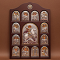 Buy Icon of an arch form In a wooden frame Iconostases a face the registered Iconostasis Saint Georges the Victorious