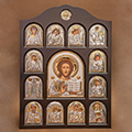 Buy Icon of an arch form In a wooden frame Iconostases a face the registered Christ Redeemer's Iconostasis