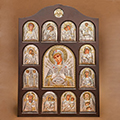 Buy Icon of an arch form In a wooden frame Iconostases a face the registered Ikonostas Semistrelnaya