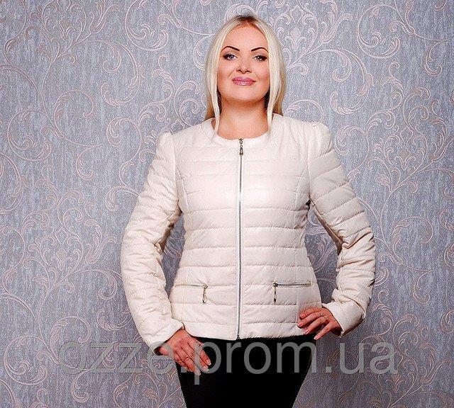 24f1c56df460 Женская куртка весенняя Шанель К 23 бежевая купить в Харькове
