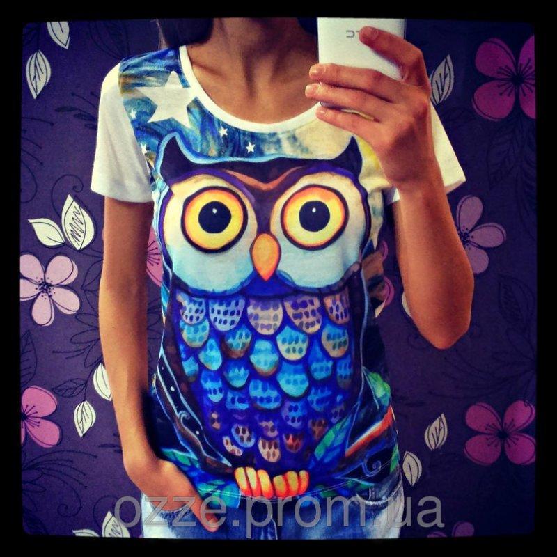 f87aca8d24144 Женская футболка с совой 737 Футболка № 737 купить в Харькове