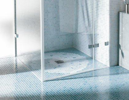 Горизонтальный трап Aco EasyFlow для отвода воды в помещениях, душевых комнатах, DN50.