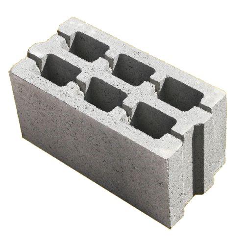 Блоки стеновые бетонные пазованные М-75 (390х190х190)
