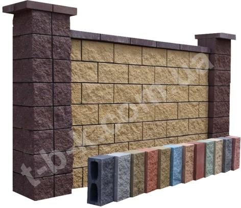 Блоки бетонні колоті