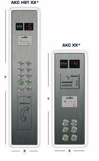 Control panels elevator