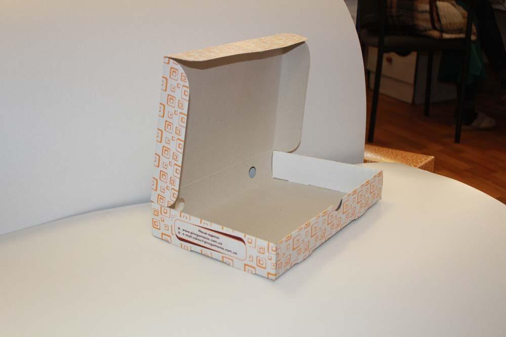 Коробка для пиццы с логотипом от производителя