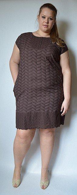 Платье коричневое 52 размер