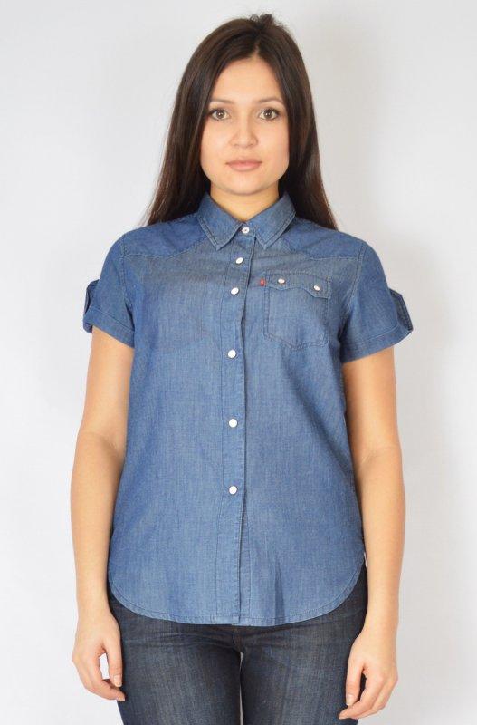 Сорочка джинсова на кнопках 42-48 купити в Одеса 896c008369125