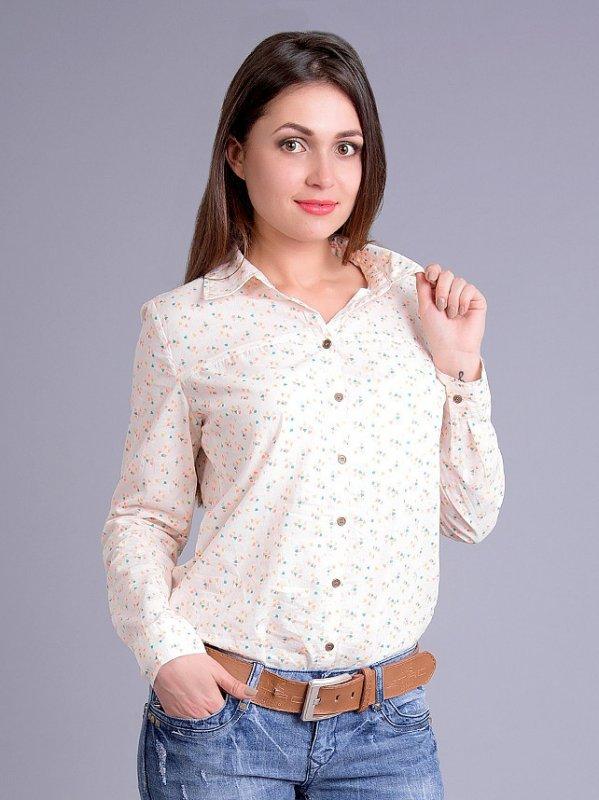 Рубашка женская хлопок с неоновым оранжевым принтом 44-52 размеры ... c3a94290e5482