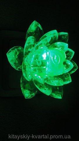 Светильник ночник Цветок Лотос зеленый