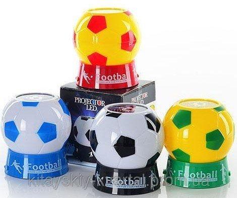 Ночник проектор Футбольный Мяч черное-белый