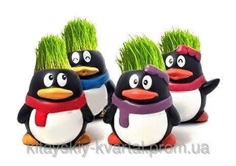 Травянчик Пингвин с веселой мордашкой