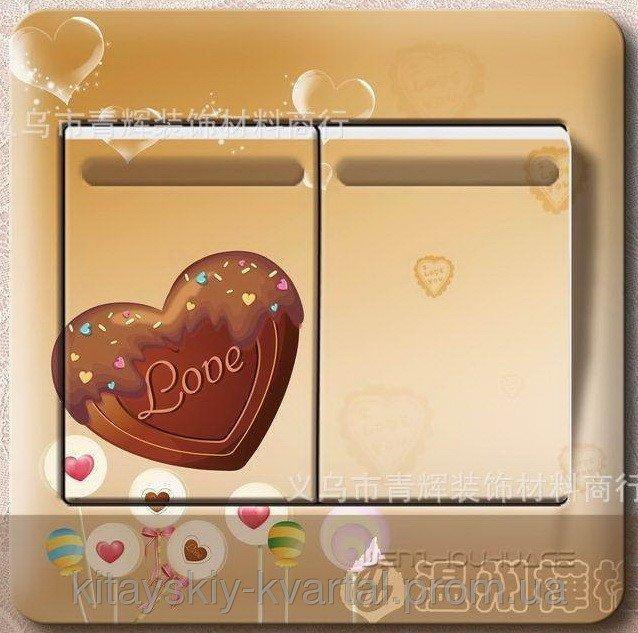 Интерьерная наклейка на выключатель Любовь