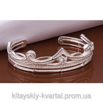 Купить Браслет корона Tiffany TF-b204. Покрытие серебром 925