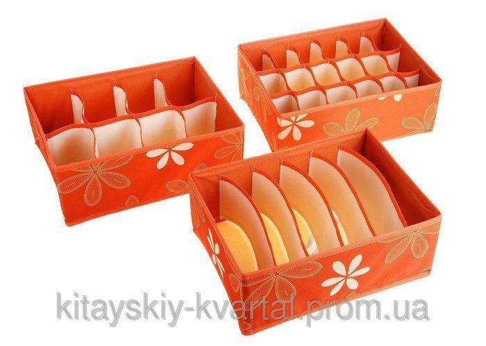 Органайзеры для белья набор 3 в 1 kv301