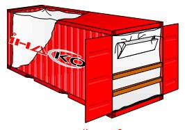 Купить Вкладыш в контейнеры морские полипропиленовый