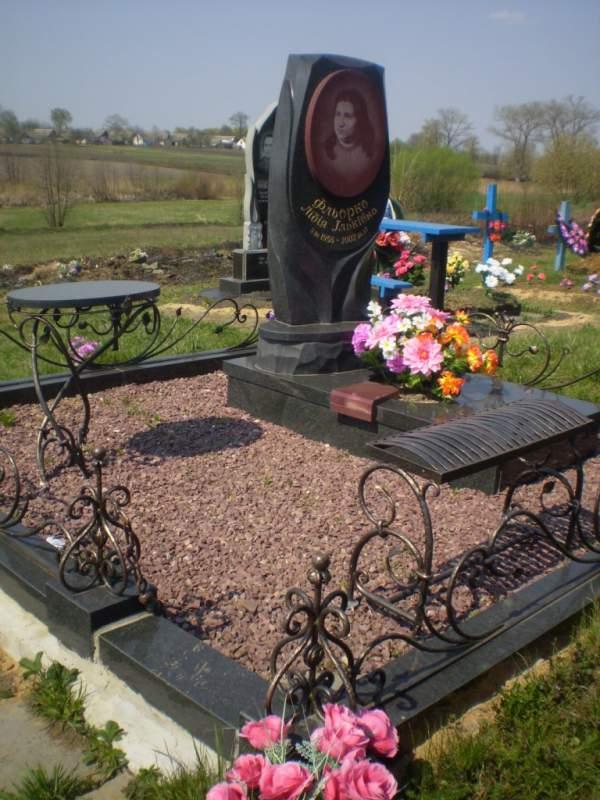 Купить надгробие в украине Шар. Дымовский гранит Венев
