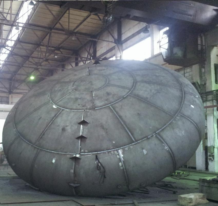 Днища стальные эллиптические, сферические