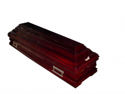 Гроб полированный тёмный