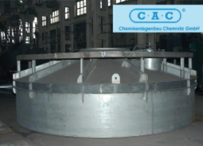 Верхняя часть промежуточного Абсорбера К2220 , внутренний диаметр 6320мм, цех по производству серной кислоты мощностью 1820 тонн в сутки