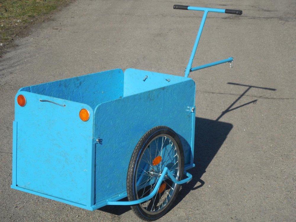 Велоприцеп грузовая тележка универсальный с увеличенным кузовом  Везун-5 ГЛ