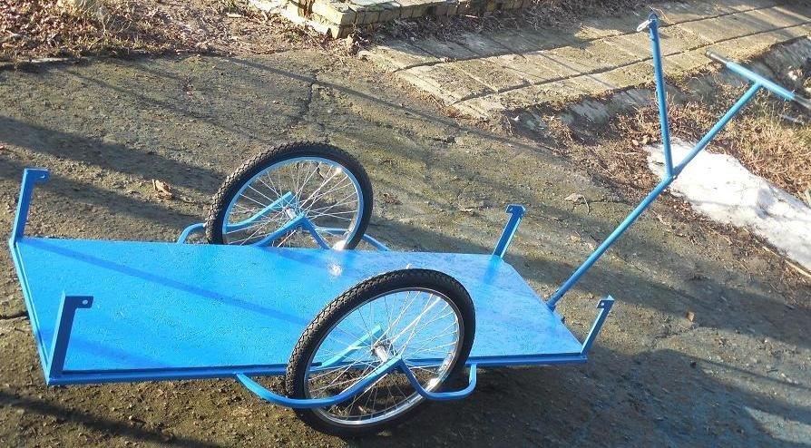 Велоприцеп грузовая тележка,  с удлиненным  кузовом