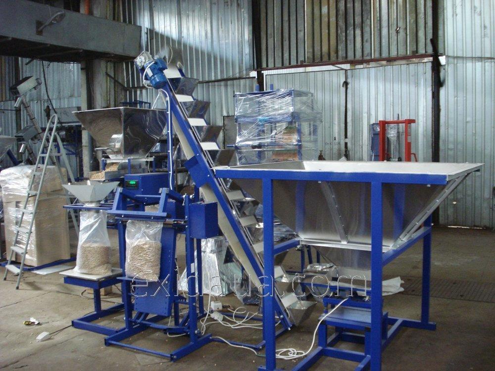 Линия для упаковки топливных гранул (пеллет) в мешки