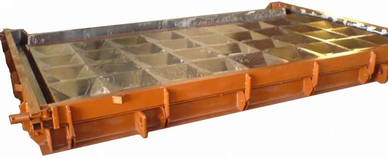 Металлоформы плит забора и фундаментов для них, бордюр, для изделий из пено- и газобетона, ленточных фундаментов, лестничных площадок, ступеней, аэродромных плит и плит дорожного покрытия