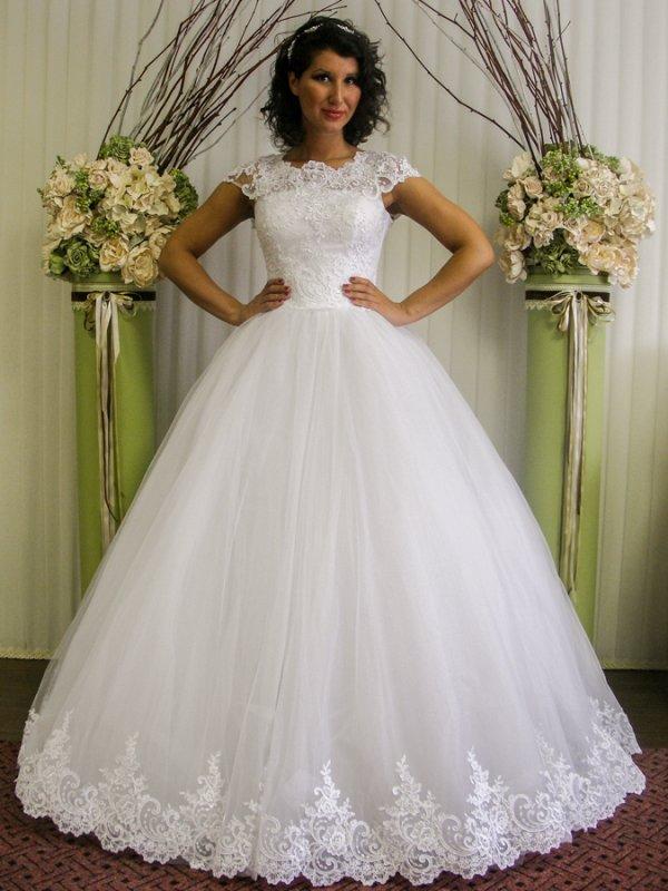Пишне закрите весільне плаття з рукавами купити в Київ 03b2672926c36