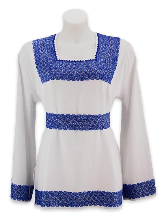Вишита бісером жіноча сорочка з геометричним орнаментом. В наявності. Ціна  bdfa10ac4d091