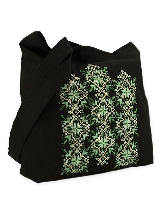 Об ємна сумка із зеленою грайливою вишивкою купити в Чернігів 9361ddbf27321