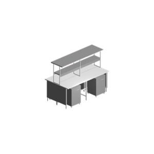 Купить Стол лабораторный островной с выкатной тумбой