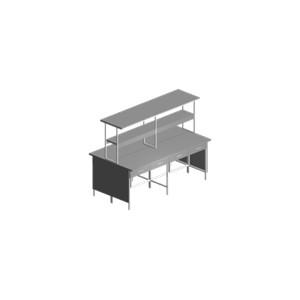 Купить Стол лабораторный островной с выдвижными ящиками