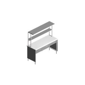 Купить Стол лабораторный пристенный с выдвижными ящиками