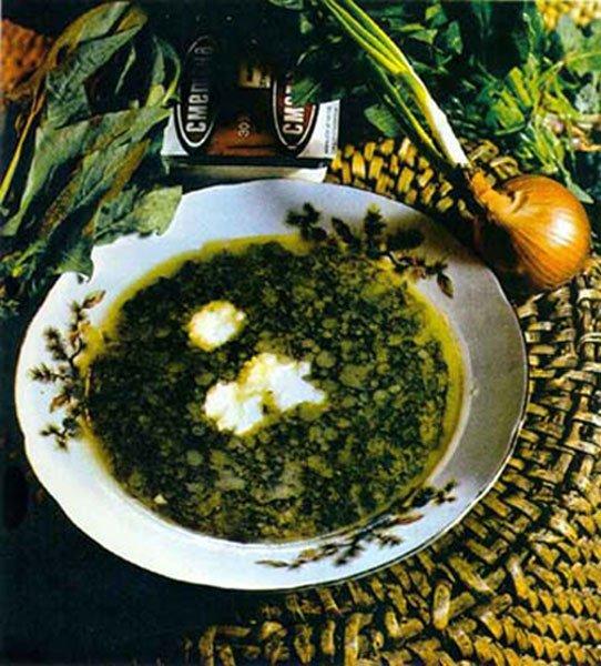 Бульон куриный с зеленым луком