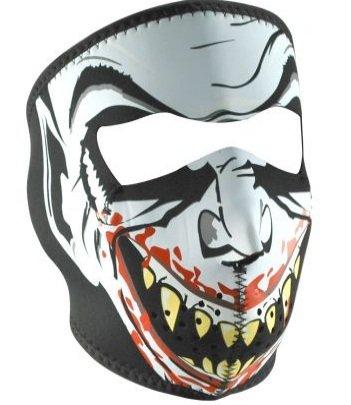 Купить Лицевая мотомаска Zan Headgear Vampire Glow in the dark