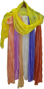 Турмалиновый шарф с серебряной нитью Вековой Восток
