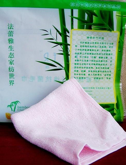 Салфетка из бамбука для лица и тела