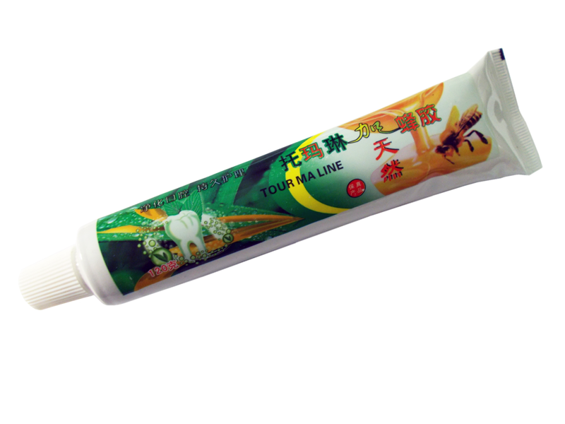 Зубная паста с турмалином на китайских травах с кактусом и  эхинацией.