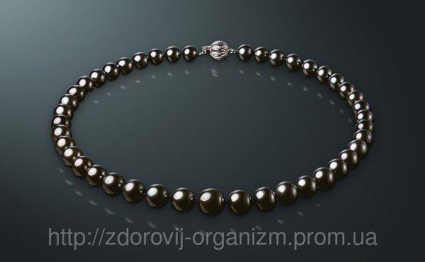 Necklace Black pearls of Tahiti