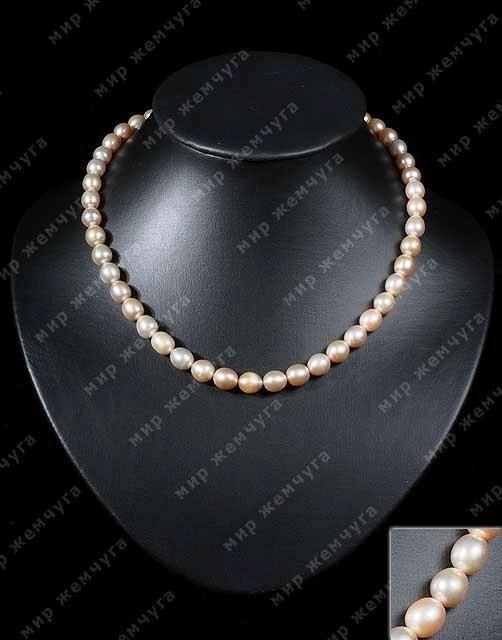 Купить Жемчужное ожерелье классическое ожерелье из персиковых жемчужин
