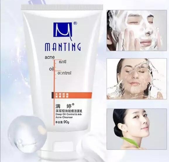 """Молочко для умывания """"Manting"""" «Контроль за блеском»  глубокое очищение кожи"""
